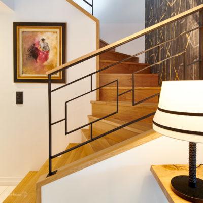 Escalier maison Lahonce Pays Basque