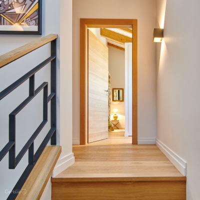 Garde corps escalier et porte rénovation maison Lahonce Pays Basque
