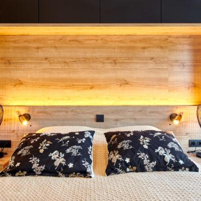 Tête de lit et éclairage sur-mesure au Pays Basque