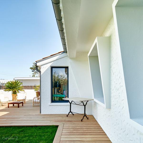 Rénovation d'une maison individuelle et de ses annexes à Anglet Chiberta