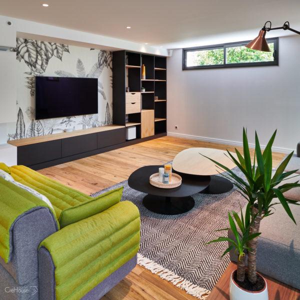 Rénovation appartement Biarritz salon