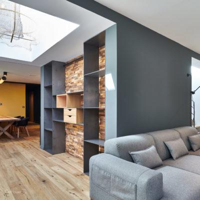Rénovation appartement Biarritz bibliothèque