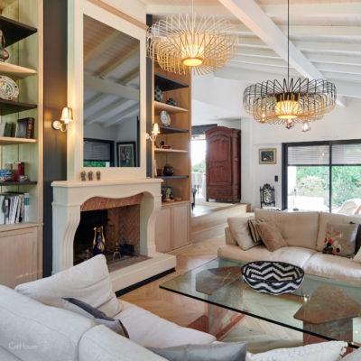 Rénovation d'un salon et création de meubles sur-mesure