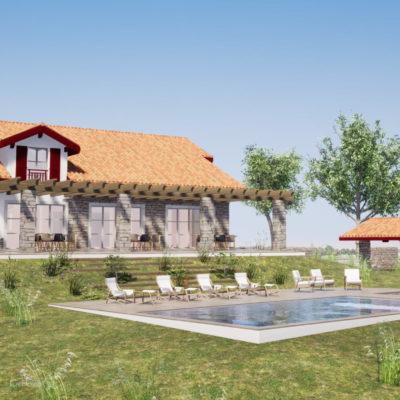 Projet de rénovation d'une ferme basque à Bardos au Pays Basque