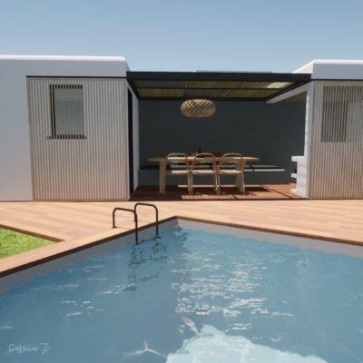 Projet d'extension et création pool-house à Anglet au Pays Basque