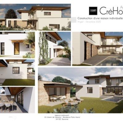 Avant-projet d'une construction de villa à Anglet au Pays Basque