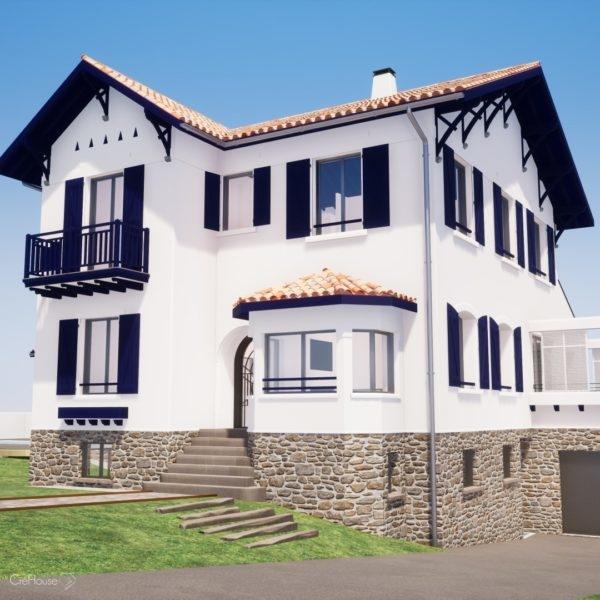 Projet de rénovation d'une maison de ville à Bayonne au Pays Basque