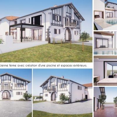 Projet de rénovation d'une ferme au Pays Basque